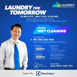 pelatihan belajar laundry wet cleaning