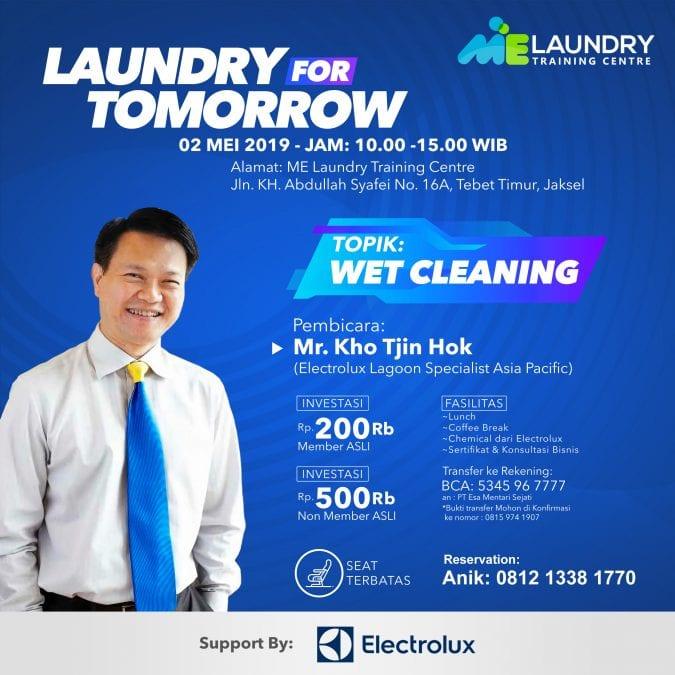 pelatihan belajar laundry wet cleaning