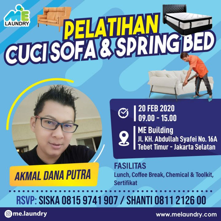 Pelatihan Cuci Sofa & Spring Bed